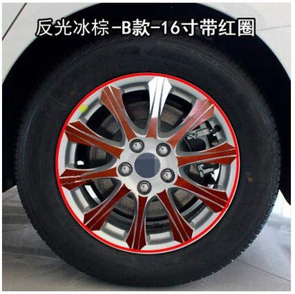 Refelctive Brown Beautiful Plated Mixed color Rims Wheels Sticker for Mondeo 2017 Z2CA529  (color Name  Giltter Black)
