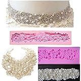 Moule en Silicone Décoration pour Gâteau Fondant Motif de Perles Rondes 3D DIY Cuisson