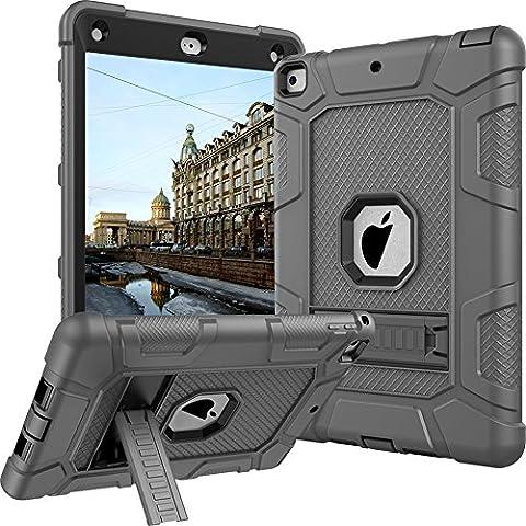 New iPad 9.7 2017 Case, CASY MALL Three Layer Heavy Duty Full Body Protective Case with Kickstand for Apple New iPad 9.7 Inch 2017 (Ipad Generation Case)