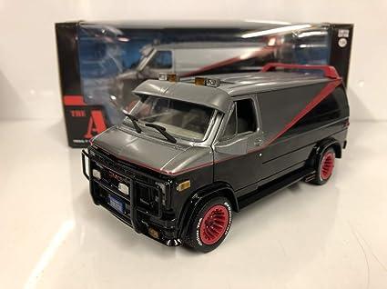 1//24 Greenlight The A-TEAM TV 1983 GMC Vandura Diecast Model Car Black 84072