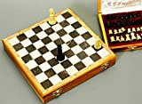 Song of India Beautiful Hand Carved Stone 10 inch Travel Chess Set