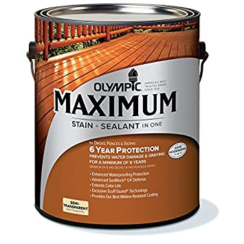 Olympic 79553a Semi Transparent Exterior Stain   Clove Brown