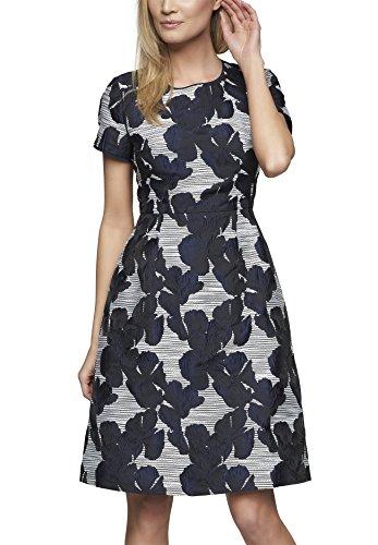 Knielang Winterweiß 0 Kleid tintenblau Linie Schwarz 61415 Damen APART Fashion A x8qwZZYR