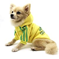 QiCheng&LYS Adidog Dog Hoodie Ropa, Mascota Cachorro Gato algodón Lindo cálido Sudadera con Capucha suéter (XS, Amarillo…