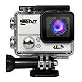 BestFace Sports Action Camera 4K Ultra HD WiFi HDMI 2.0'' LCD Screen Waterproof DV for Outdoor Sporting Silver