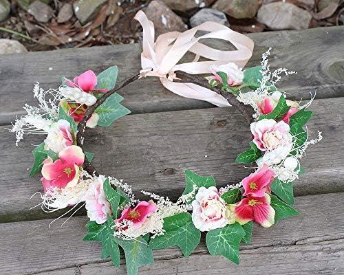 X Xia Zhi Td Blue Purple Hydrangea Flower Crown Headpiece