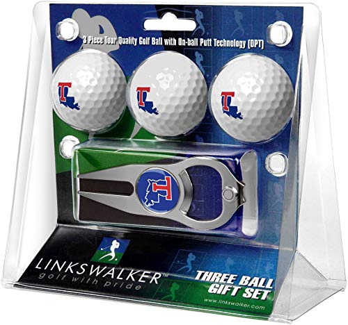 NCAA Louisiana Tech Bulldogs - 3 Ball Gift Pack with Hat Trick Divot Tool