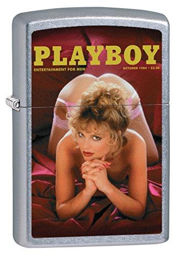 Zippo Custom Lighter: Playboy Cover October 1984 - Street Chrome - Zippo Cover Lighters Playboy