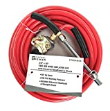 Dynamic Power 3/8'' X 50' Tire Air Hose Inflator Kit with Universal Gladhand & Chuck (RED), D-PVC38-50-04