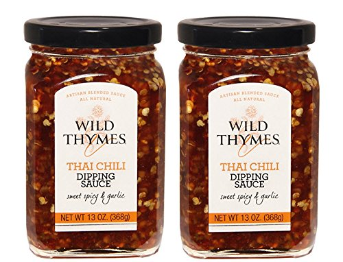 (THAI CHILI ROASTED GARLIC DIPPING SAUCE by Wild Thymes Farm, 13oz (Pack of 2))