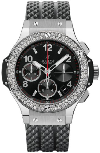 Hublot Big Bang Black Dial Automatic Black Rubber Mens Watch 342SX130RX114