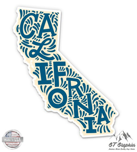 California State Shape Cute Letters Native Local - 12