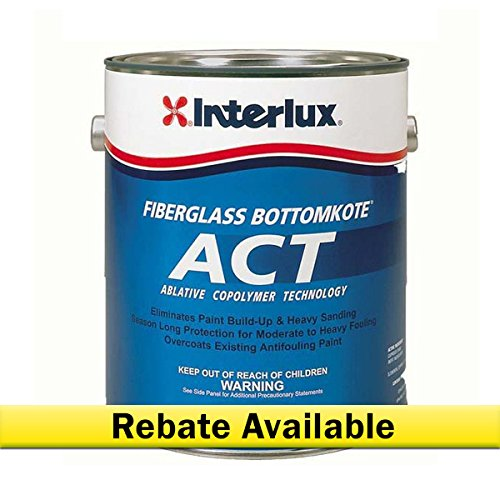 (Interlux Y7790U/1 ACT Antifouling Paint (Black, Gallon), 128. Fluid_Ounces )