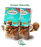 Vegan cookies Coconut - 2Pack of Delicious Vegan treats.Rich flavor & Crisp texture. Fair Trade Cookies, Dairy free & Organic. Made in Germany with Only the Finest Natural Ingredients. 10.5oz.