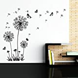 Dooboe Dandelion Wall Decal - Wall Stickers Dandelion Art Decor- Vinyl Large Peel and Stick Removable Mural by