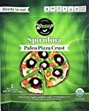 Paleo Pizza Crust | Spirulina Flavored Organic Gluten Free, Dairy Free, Soy Free, Nut Free and Vegan Pizza Crust 6 Pack