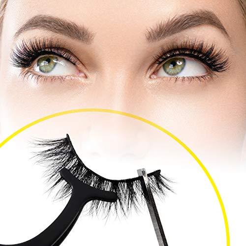 CALAILIS 3D Mink Eyelash, Vegan False Eyelashes, 5D Fake Eyelashes, Fluffy Volume Dramatic Handmade 3D Layered Effect Reusable Eyelashes 3 styles CFD301 4