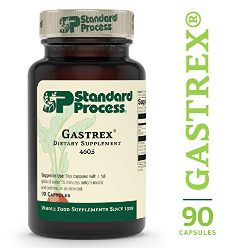 (Standard Process - Gastrex - Supports Digestion, Stimulates Cleansing of Upper Gastrointestinal (GI) Tract, Provides Vitamin C, Niacin, Vitamin B6, Okra and Tillandsia Usneoides - 90 Capsules)