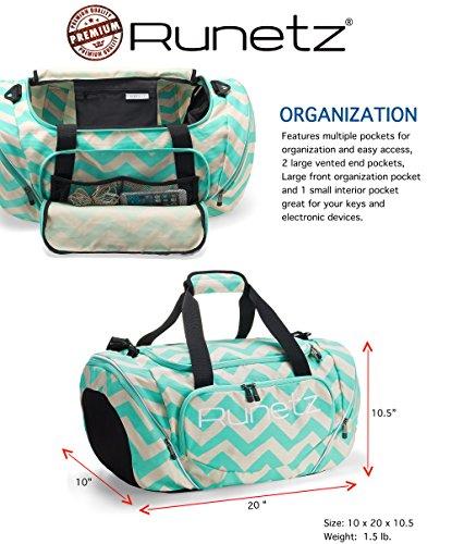 b614f7459e50 Runetz - Chevron Hot TEAL Blue Gym Bag Sport Shoulder Bag for Men ...