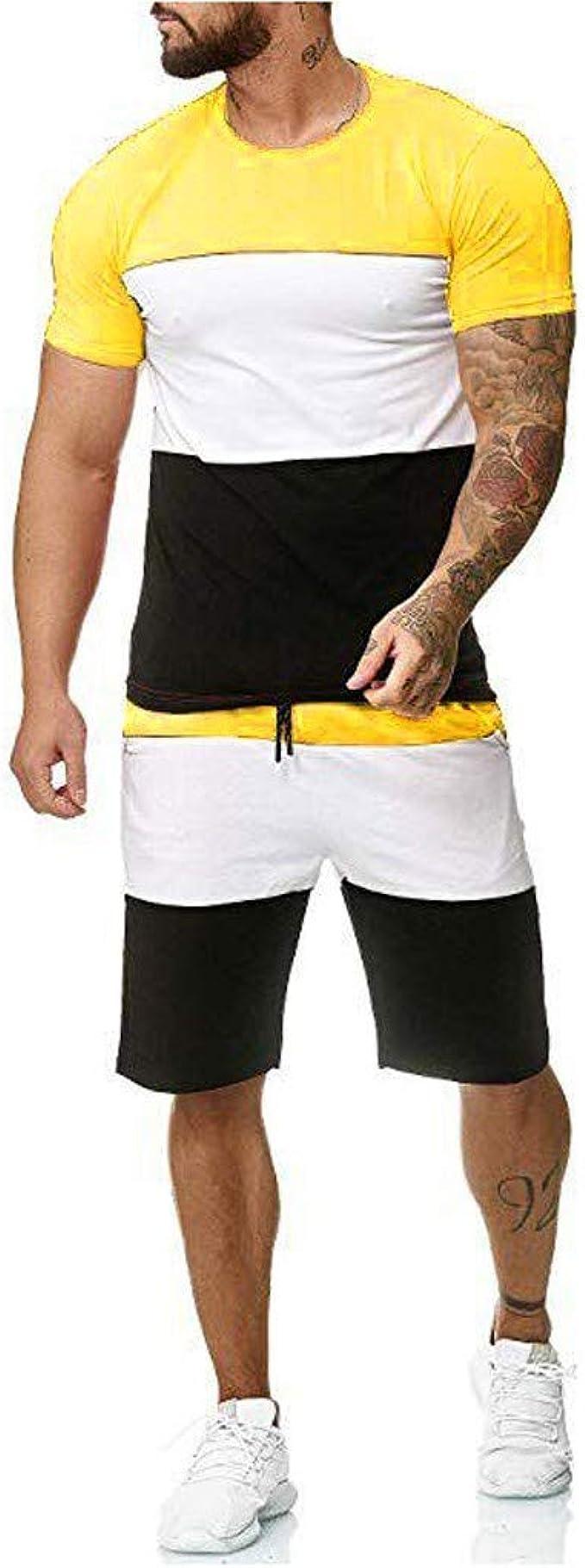 xzbailisha Mens Solid Elastic Waist Drawstring Casual Short Jogger Gym Shorts