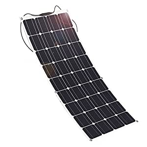 GIARIDE Solar Panel, 18V 12V 100W High-efficiency Monocrystalline Cell with MC4 Connectors Flexible Bendable Off-grid Solar Panel Charger for 12 Volt Battery, RV, Boat, Car, Motorhome, Camping