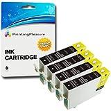 4 XL Compatibili T1281 Cartucce d'inchiostro per Epson Stylus S22 SX125 SX130 SX230 SX235W SX420W SX425W SX430W SX435W SX438W SX440W SX445W SX445WE Office BX305F BX305FW Plus - Nero, Alta Capacità