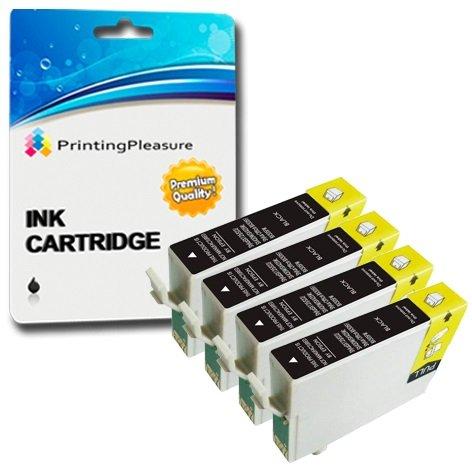 4 opinioni per Printing Pleasure 4x T1291 Nero Cartucce d'inchiostro compatibili per Epson