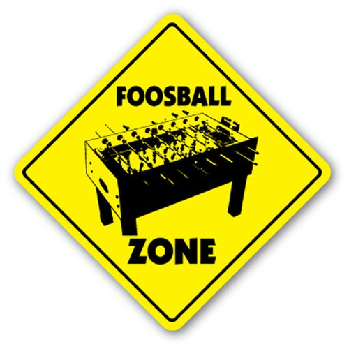 ([SignJoker] FOOSBALL ZONE Sign game room table soccer gift Wall Plaque Decoration)