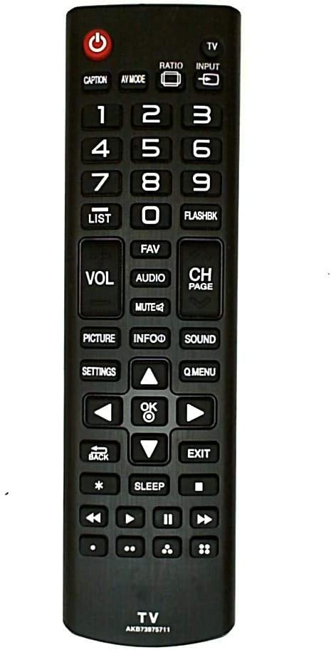 AKB73975711 Remote Control Replaced for LG TVs 42LB5600-UZ, 55LB5900-UV and Almost All Late Model LG TV's