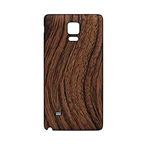 Leather Replacement Back Cover Case for Samsung Galaxy Note 4 (brown grain)