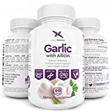 LAUNCH SALE! Max Strength Garlic with Allicin for Effective Immunity Support - Gelatin Free - Easy to Swallow Enteric Coated Tablets for maximum benefits, heart health and digestion - 3 MONTH supply!