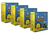 4 - Box of 120pcs Coconut Coco nara coconara Premium Lighting Hookah Hokah charcoal coals- TOTAL 480pcs