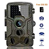 BestoU HD Trail Camera 16MP 1080P Wildlife Camera Infrared Game&Hunting Camera Night Version up to 20M/65FT with IP66 Spray Waterproof 130° Wide Angle Lens 120° Detection (HD Trail Camera)