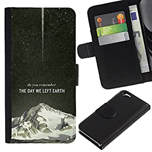 JackGot ( El día que nos fuimos Tierra Galaxy Rocket ) Apple (4.7 inches!!!) iPhone 6 / 6S la tarjeta de Crédito Slots PU Funda de cuero Monedero caso cubierta de piel