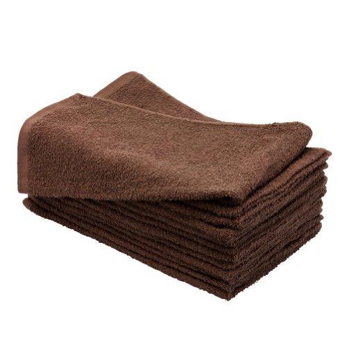 1 Dozen 15'' x 25'' CHOCOLATE BROWN Bleach Chemical Resistant Cotton Salon Towels