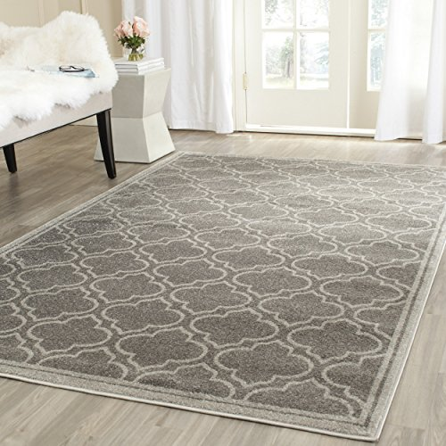 Safavieh Amherst Collection AMT412C Grey and Light Grey Indoor/ Outdoor Square Area Rug (7
