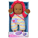 Dream Collection I'm so Soft Washable Dark Skin Doll for Children 12 months or Older, Purple Clothing