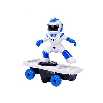 Blue-Yan Scooter eléctrico robótico - Trucos girando y cayendo con un Juguete de Scooter