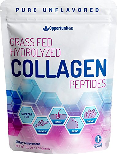Hydrolyzed Collagen Powder - Amazing Hair, Skin & Nails - Support Healthy Joints With Premium Unflavored Grass Fed Protein Peptides - Non GMO, Gluten Free & Paleo Friendly - Easy To Mix - 6oz