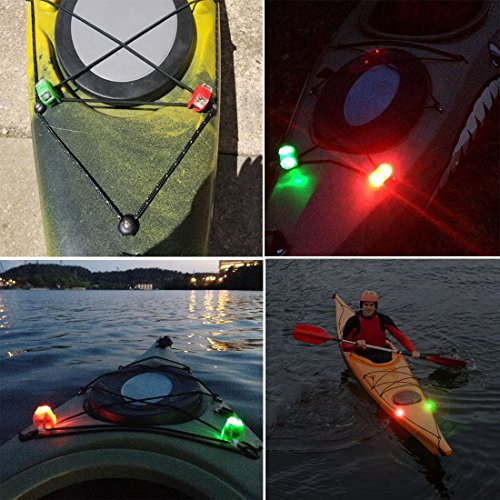Boat Bow Green Red LED Lights Marine Safety Kayak Dinghy Navigation Accessories