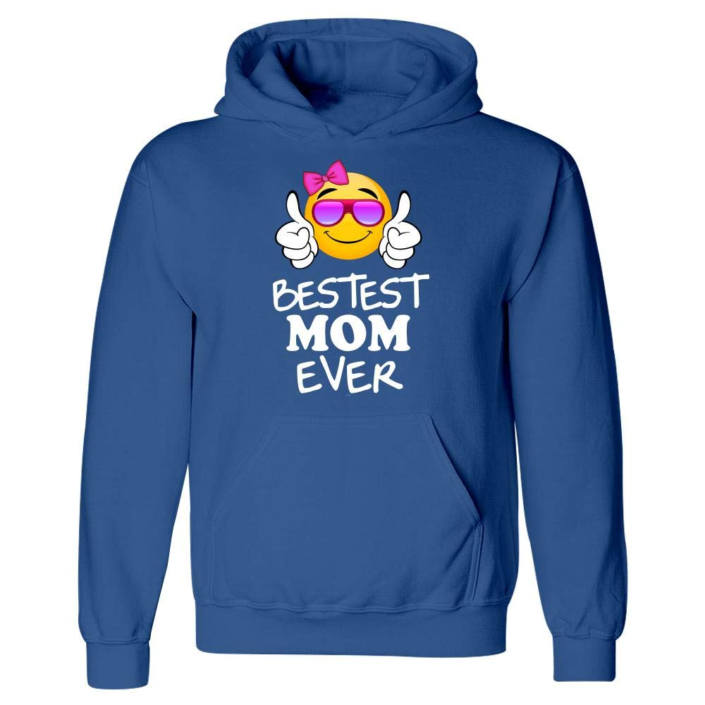 Hoodie BADASS REPUBLIC Bestest Mom Ever Emojicon Mom Gift from Daughter or Son