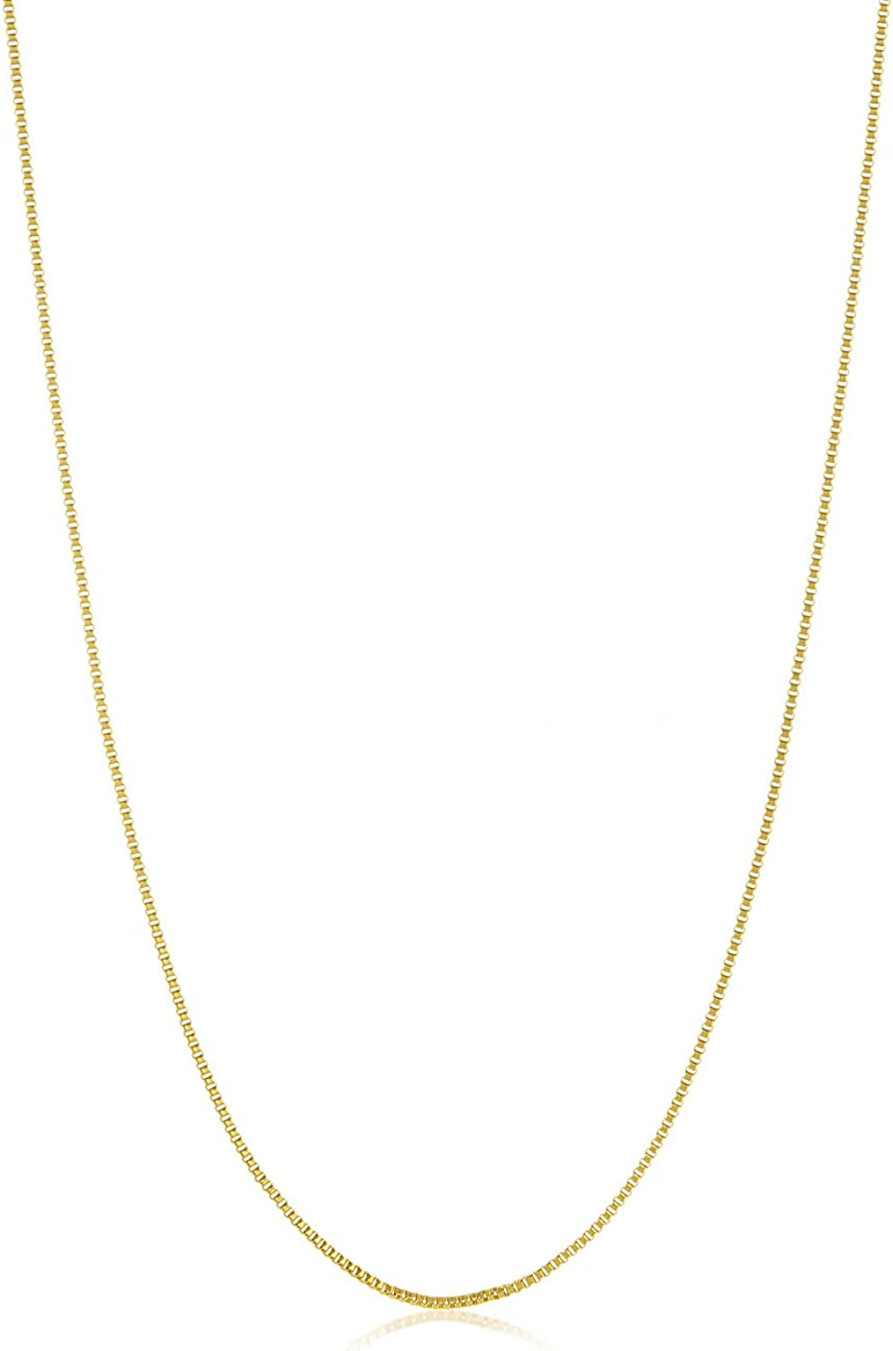 30 inches The Bling Factory Narrow 2.5mm 14k Gold Plated Stainless Steel Ball Chain w//Lobster Clasp
