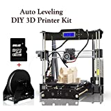 3D Printers High Precision Auto-Leveling Self-assembly DIY 3D Printer Kit with Heatbed Melzi 2.0 Mainboard LCD Display 8GB SD Card for Install & Printing Guidance