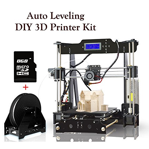 3D Printers High Precision Auto-Leveling Self-assembly DIY 3D Printer Kit with Heatbed Melzi 2.0 Mainboard LCD Display 8GB SD Card for Install & Printing Guidance by VOYOM