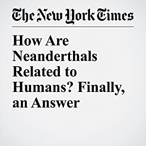 How Are Neanderthals Related to Humans? Finally, an Answer