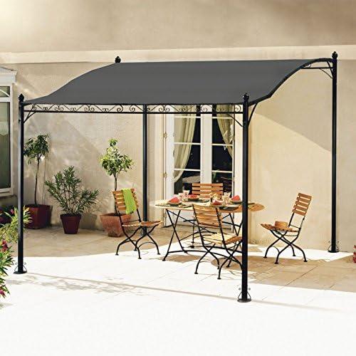 idmarket – Cenador de jardín 3 x 2.5 M toldo Pergola lienzo gris ...
