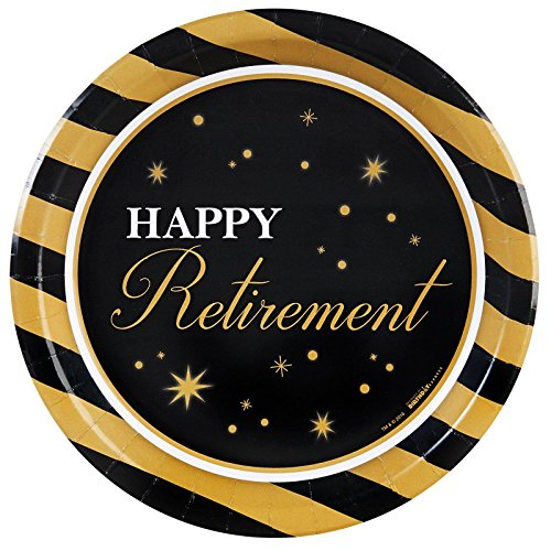 Officially Retired Retirement Party Supplies - Dinner Plates (8)