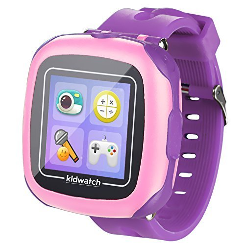 GBD Kids Game Watch,1.5'' Touch Smart Watches for Summer Birthday Gifts Travel Camping Kids Boys Girls with Pedometer Camera Alarm Clock Electronic Learning Toys (01Purple)