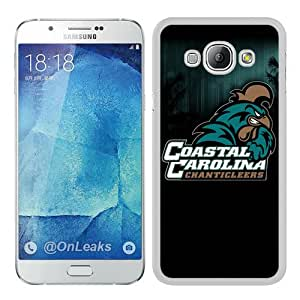 Cheap Abstract Samsung Galaxy A8 Case,NCAA Big South Conference Coastal Carolina Chanticleers 4 White New Custom Design Samsung Galaxy A8 Cover Case