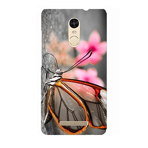 Clapcart Butterfly Design Printed Mobile Back Cover for Xiaomi Redmi Note 3  Multicolor